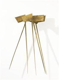 sedge theme - reciprocal (bronze) by george rickey