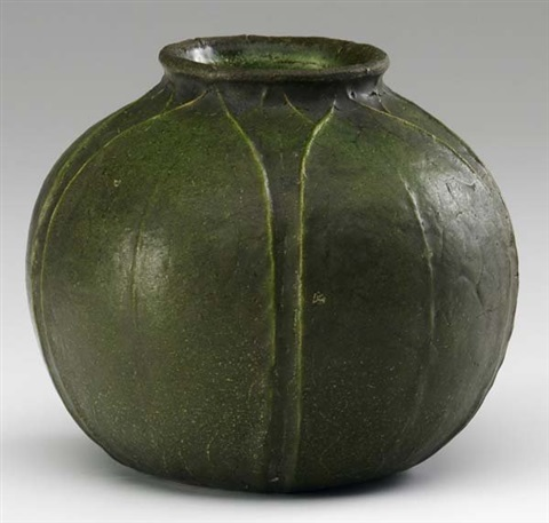 Spherical Vase By Grueby On Artnet