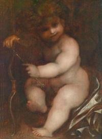 amor mit pfeil und bogen by bernardino lanino