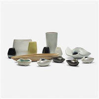 collection of thirteen vessels (13 works) by russel wright