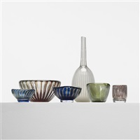 collection of six ariel vases (6 works) by edvin öhrström