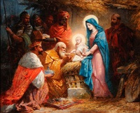 the adoration of the magi by jules david