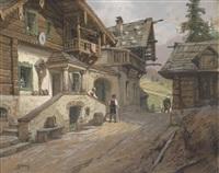 dorfstraße in den alpen by georg janny