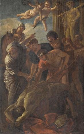 das martyrium des heiligen erasmus by nicolas poussin
