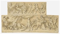 a classical frieze with putti cavorting by isaac fuller
