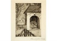 rauma church's gate by akseli valdemar gallen-kallela