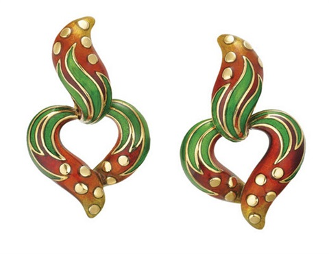 Earrings By Judith Leiber