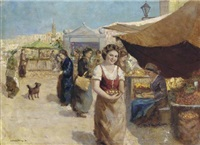 at the market by kalman szöllösy