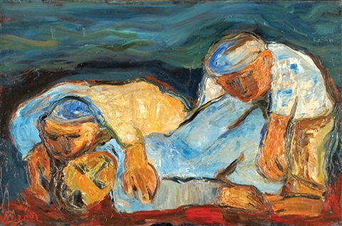 workers break by isaac frenel