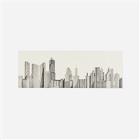 untitled (skyline) by ray johnson