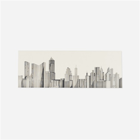untitled skyline by ray johnson