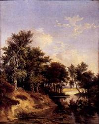 scène de chasse aux canards by alfred leon lemeunier