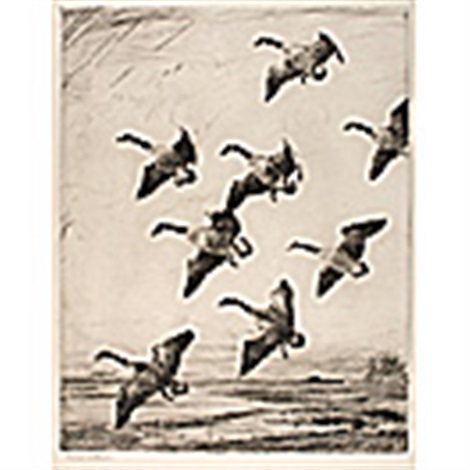 hovering geese by frank weston benson
