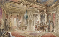interieur: salon im makartstil by georg janny
