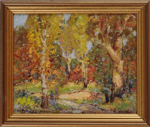 autumn landscape by arthur j beaumont