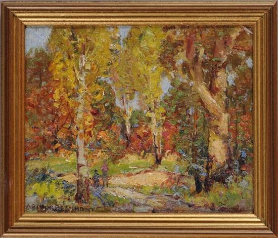 autumn landscape by arthur j beaumont