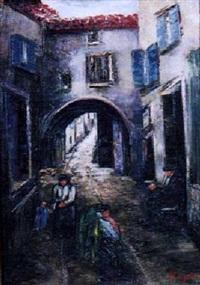 european street scene by eloise egan