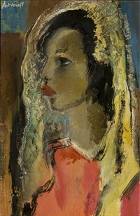 portrait of woman by georges artemov