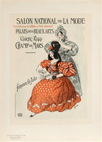 salon national de la mode from les maitres de l'affiche. pl. 235 by auguste roedel