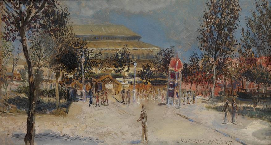 parisian scene by alexis paul arapov