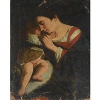 the madonna and child by orazio gentileschi