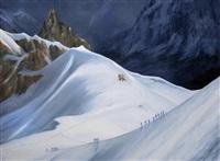 l'aiguille du midi, départ by adelaïde de balincourt