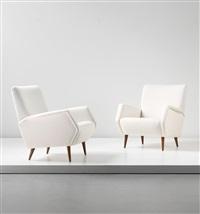 armchairs, model no. 803 (pair) by gio ponti