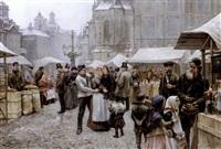 st. nicholas fair, karlin, prague by jaroslar kosar
