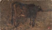 mucca alla mangiatoia by telemaco signorini