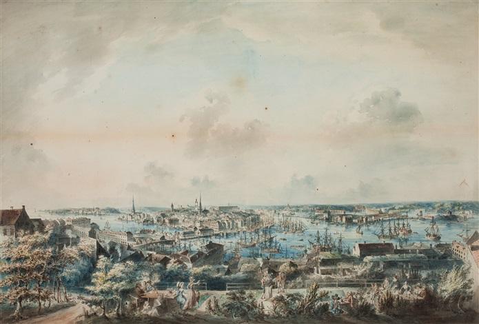 utsigt af stockholm tagen från mose backe en höjd å södermalm vue of stockholm from mosebacke by johan fredrik martin
