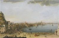naples, a view of the strada di santa lucia from pizzofalcone to the ponte della maddalena by pietro antoniani