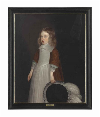portrait of a boy possibly sir thomas pope blount 1st baronet 1649 1697 of tyttenhanger hertfordshire three quarter length by john hayls