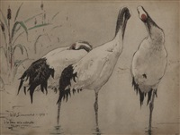three cranes by william simmons