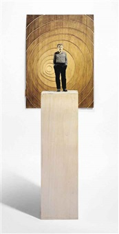 figure with relief (vertical) (in 2 parts) by stephan balkenhol