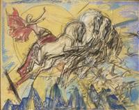 zonnegod: apollo in his chariot by willem van konijnenburg