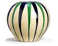 large globular vase by kähler pottery (co.)