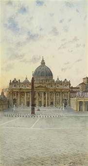saint peter's at dusk, rome by giovanni facciola