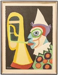 circus, portfolio i. clown d'amsterdam (nmr 7 av 10) by karel appel