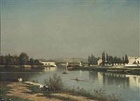 seine bij châtillon: seine near châtillon by johan conrad greive