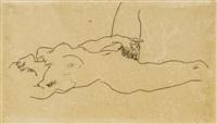 liegender weiblicher akt (reclining female nude) by egon schiele
