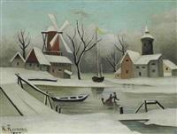 l'hiver by henri rousseau