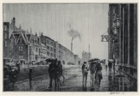 rain on murray hill by martin lewis