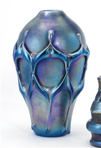 early vase with applied decoration by louis comfort tiffany
