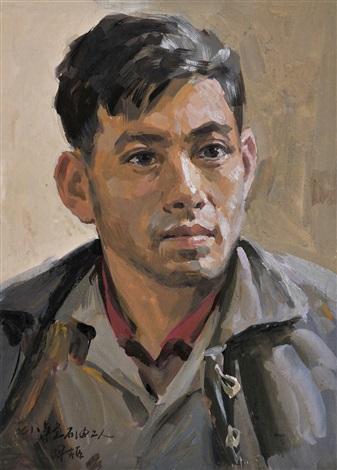 石油工人像 by liu guoshu