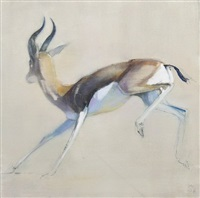 gazelle bondissant by mark adlington