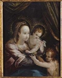 madonna con bambino e san giovannino by giulio clovio