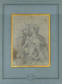 study for st. john and the holy women at the foot of the cross by francesco fernandi