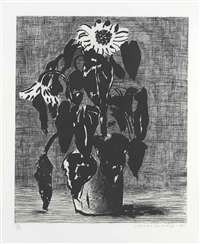 sunflower i by david hockney