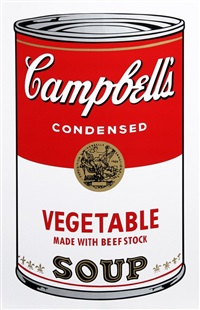 campbell soup can: vegetable by andy warhol