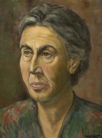 portrait of a woman by raphael soyer